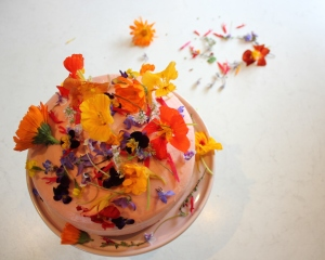 Edible flowers and trying new foods