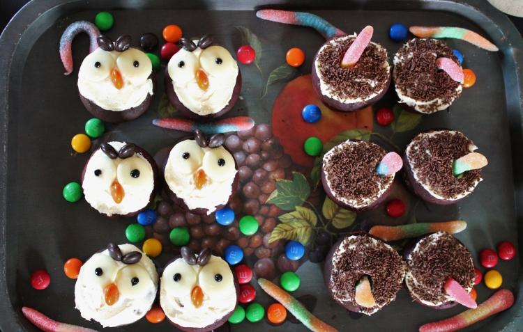 Angry Owl Cupcakes