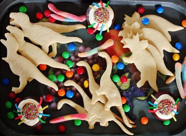 Dinosaur biscuits