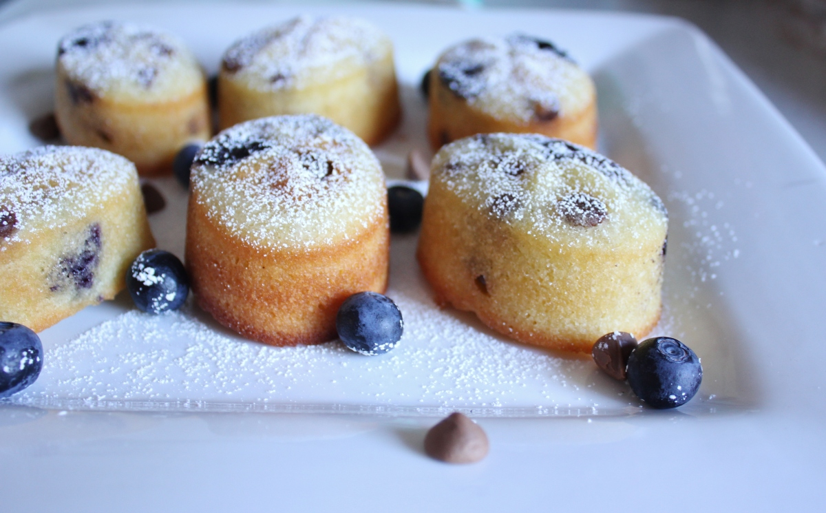 Chocolate blueberry friands and alliteration