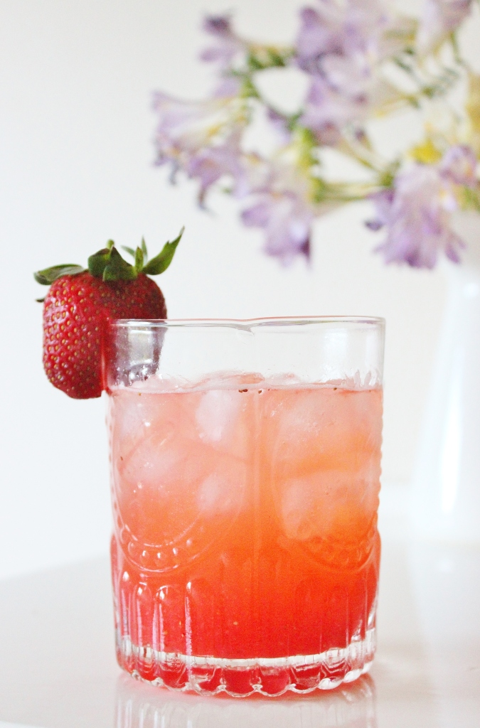 Strawberry and lemon cordial