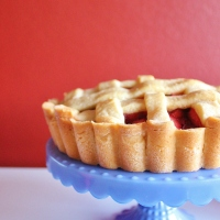 Apple and rhubarb pie and produce