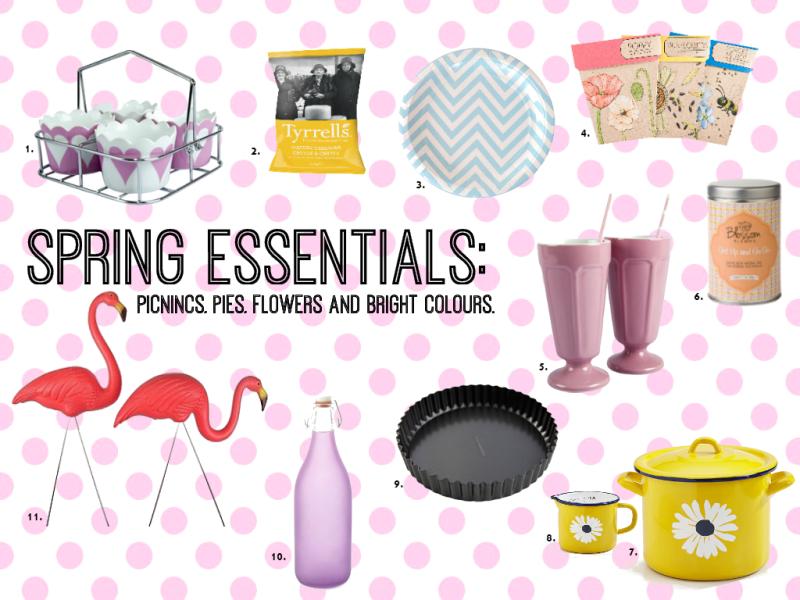 Spring essentials list
