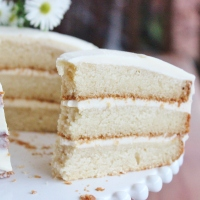 White vegan vanilla cake and going vegan
