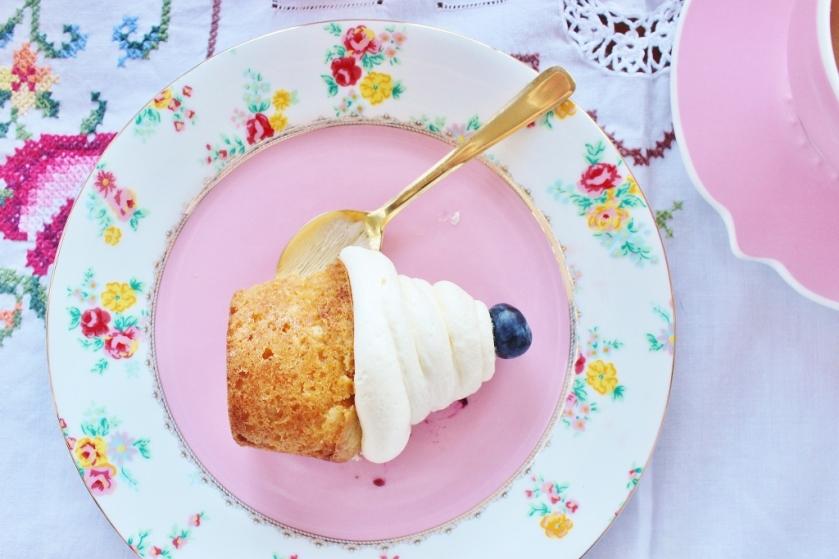single blueberry cupcake
