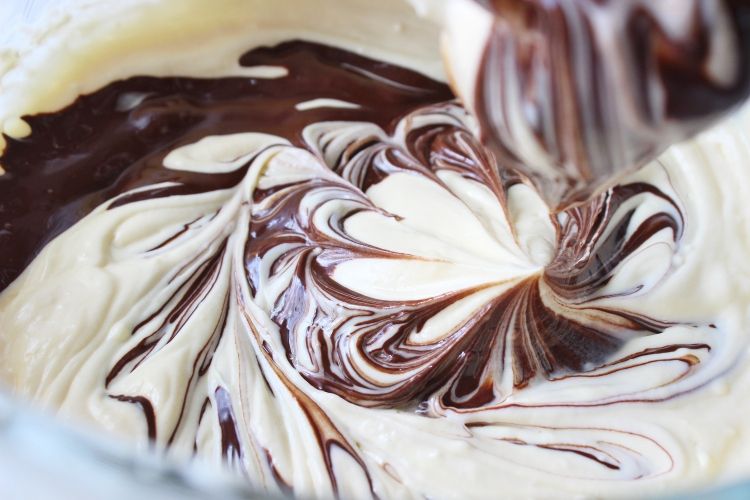 chocolate cheesecake mixture