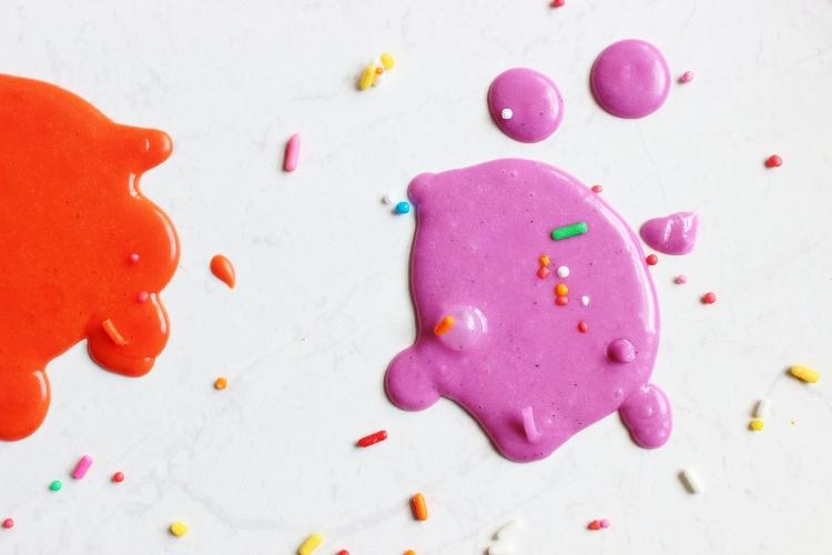 vanilla halloween doughnuts icing splatter purple