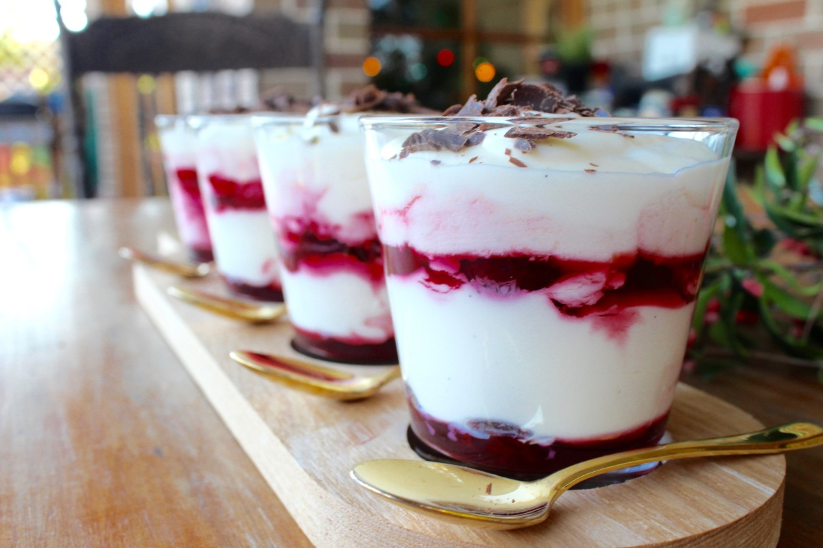 Cherry syllabub and Christmas cheer