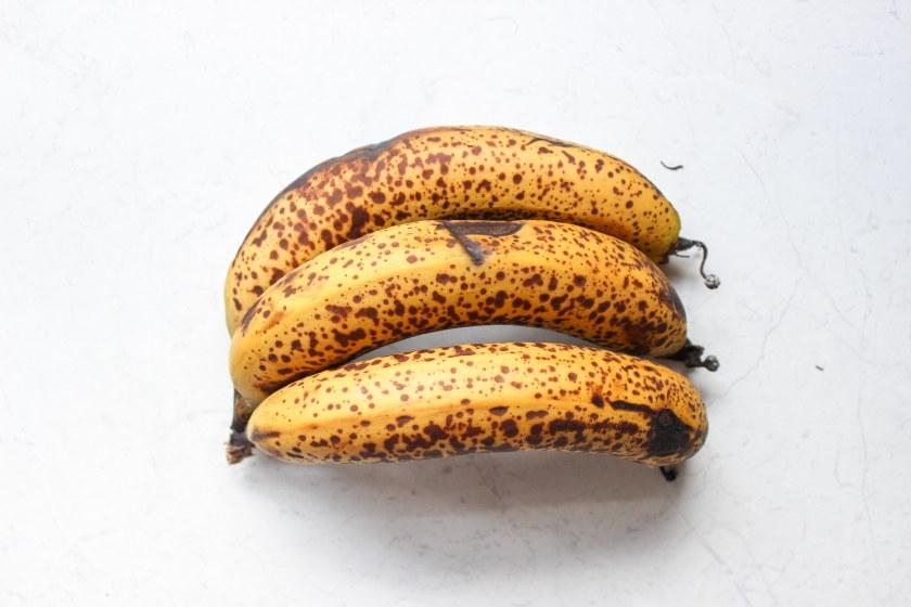 Bananas close up peanut butter nana ice cream
