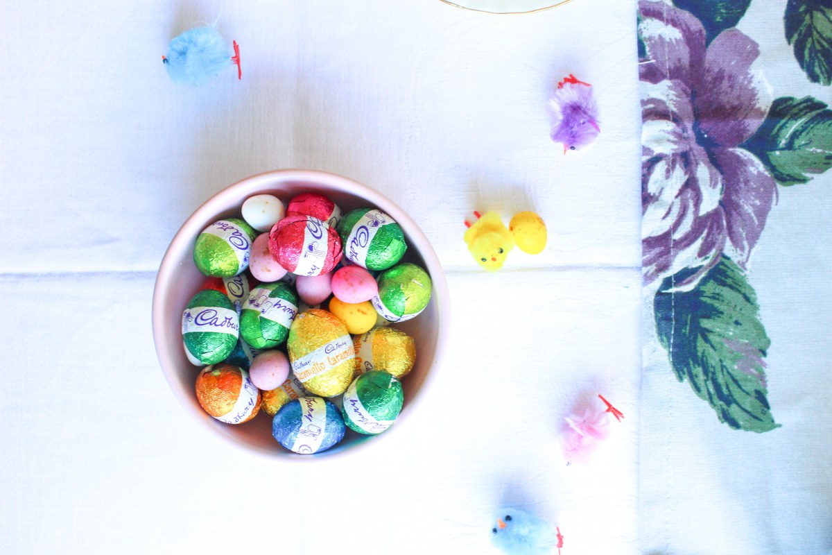 Mini egg Easter doughnuts and a healthy Easter